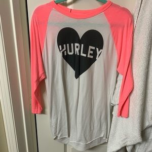 White and Pink Hurley Shirt